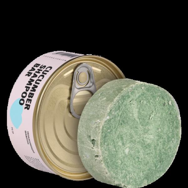 Твердый шампунь с огурцом Cucumber Shampoo bar, 75 г
