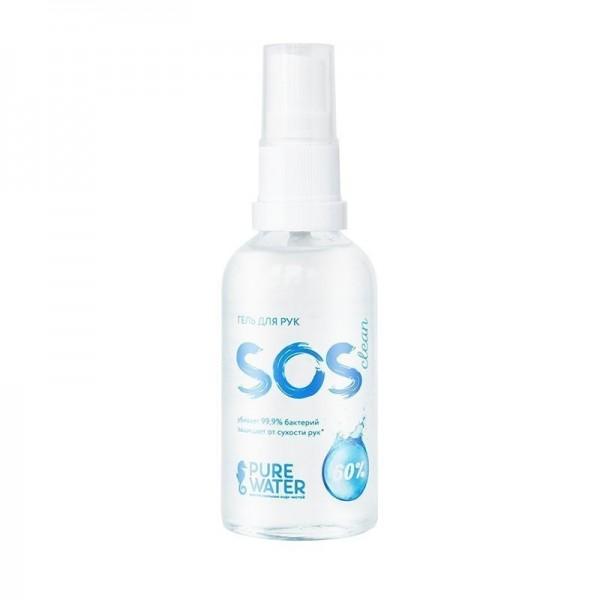 Гель для рук SOS Clean 60% спирта 50 мл