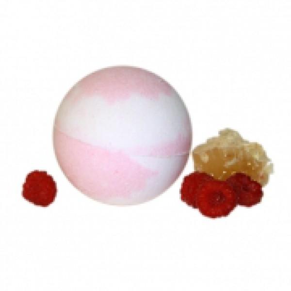 Бурлящий шарик для ванн Мед и малина 185 гр.