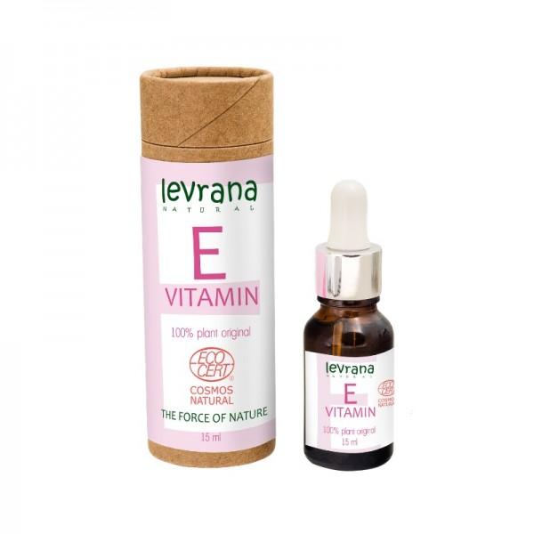 Сыворотка для лица Витамин E, растительный, чистый антиоксидант, 15млECOCERT